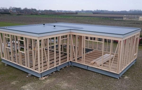 opbouw frame mantelzorg woning en dakbedekking