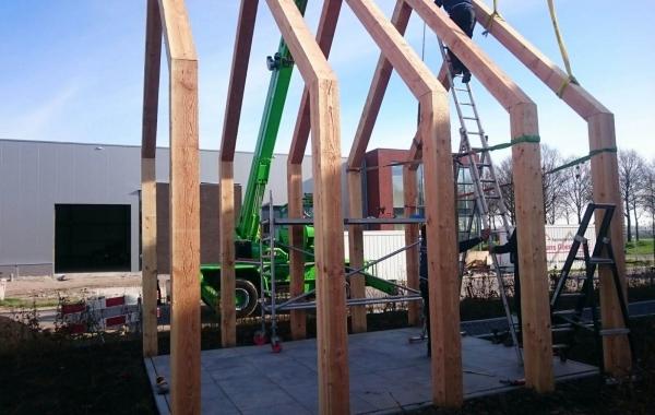 Kramer Houtbewerking montage staande constructie